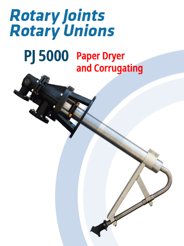 Rotary Joints and Rotary Unions PJ5000 – Paper Dryer and Corrugating